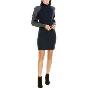 BCBGMaxAzria Mock Neck Wool Blend Sweater Dress